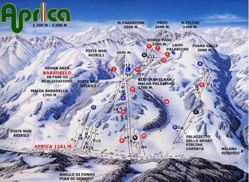 Aprica Piste / Trail Map