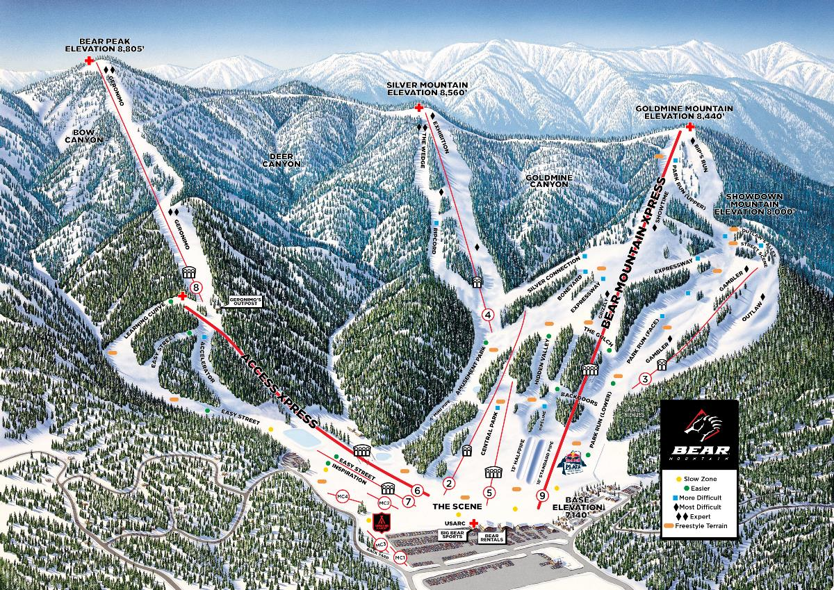 Big Bear Mountain Piste / Trail Map