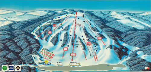 Bittersweet Ski Area Piste / Trail Map