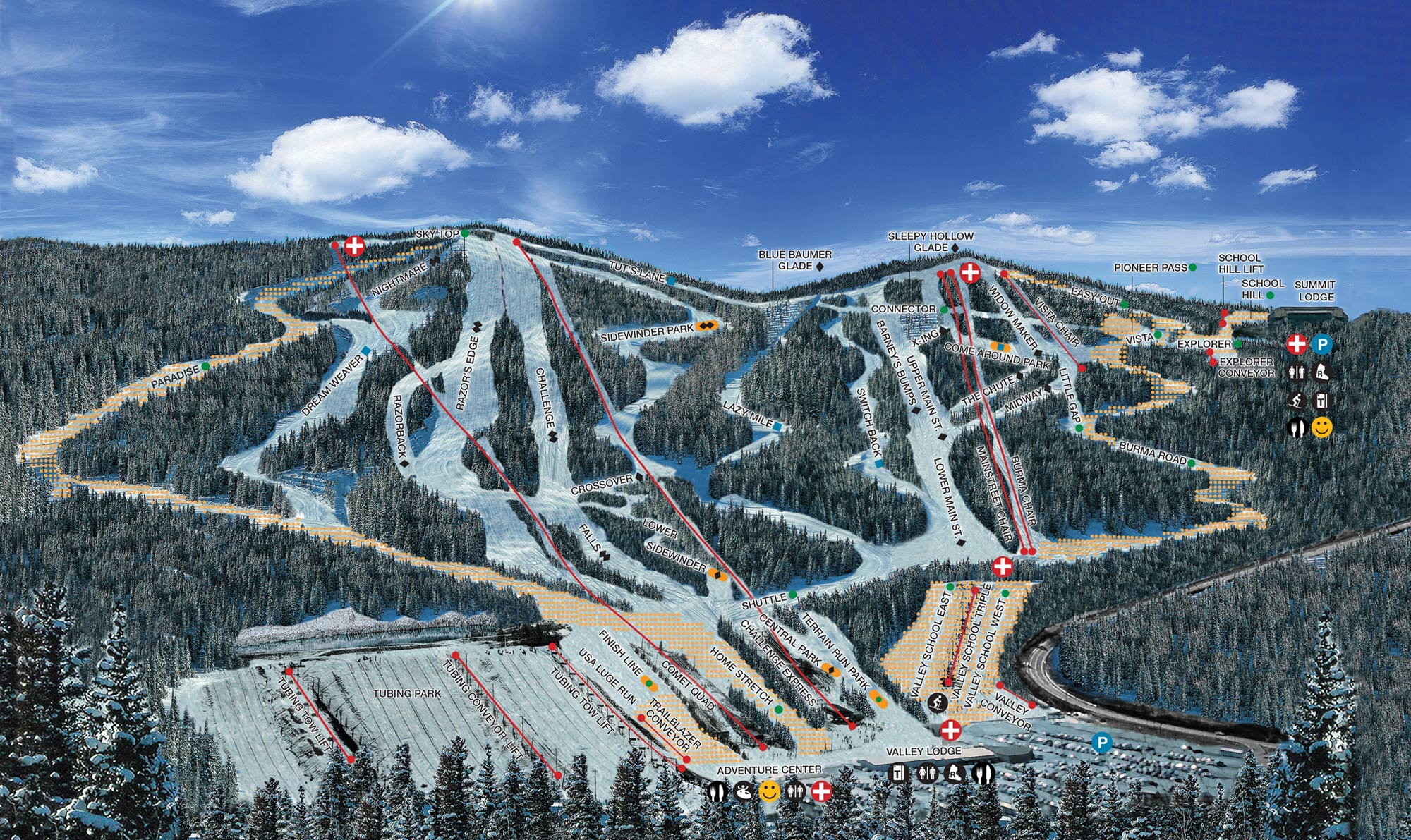 Blue Mountain Resort Piste / Trail Map