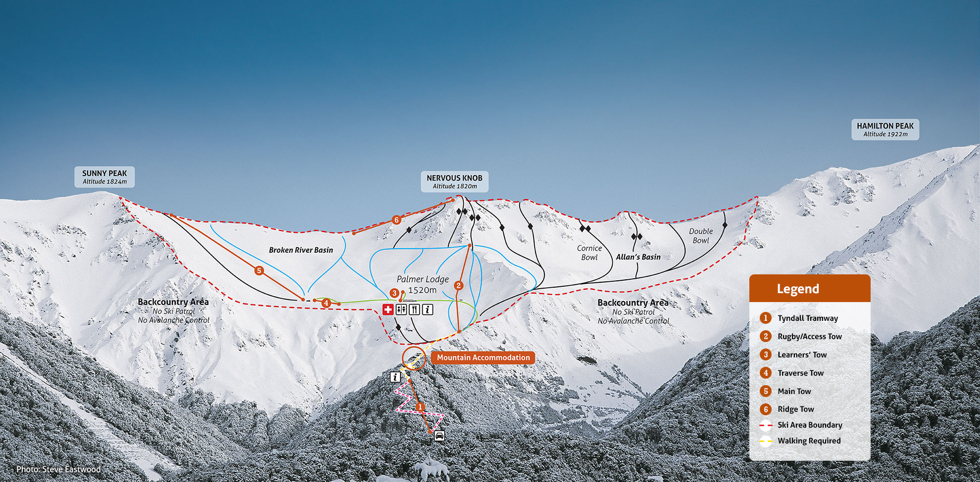 Broken River Piste / Trail Map