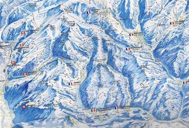 Champoussin Piste / Trail Map
