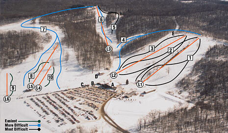 Clear Fork Piste / Trail Map