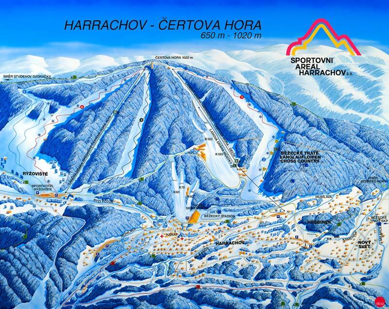 Harrachov Piste / Trail Map
