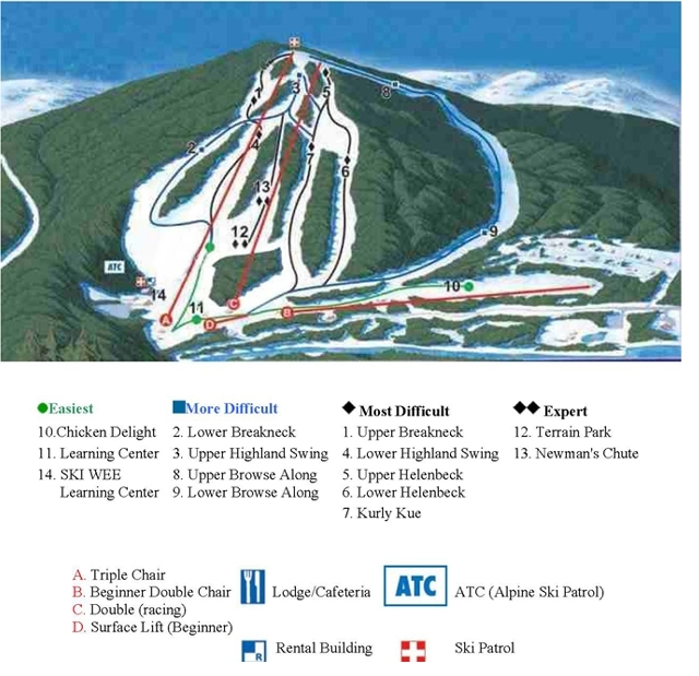 Hidden Valley Club Piste / Trail Map