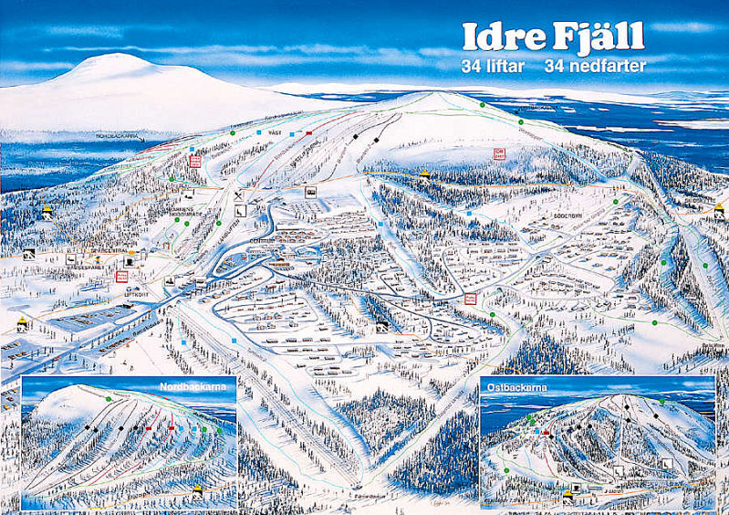 Idre Sweden  city images : Idre Fjäll Pistenplan /Abfahrten hohe Auflösung