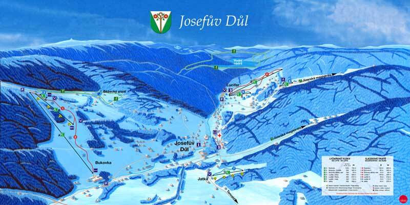 Josefův Důl Piste / Trail Map