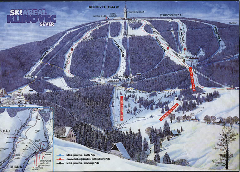 Klínovec Piste / Trail Map