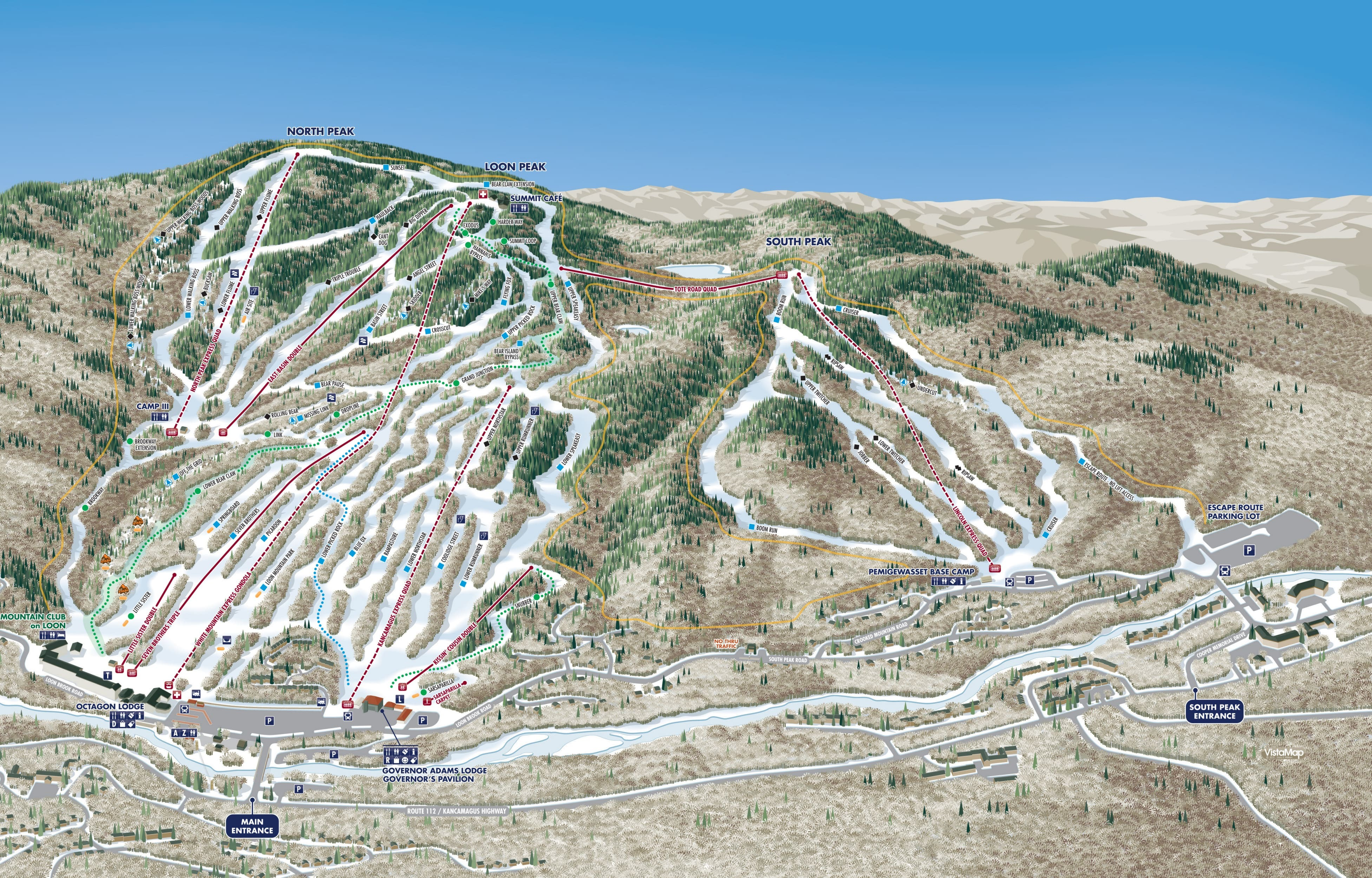 Loon Mountain Piste / Trail Map