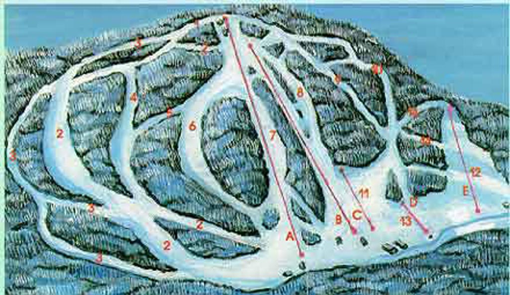 McCauley Mountain Ski Center Piste / Trail Map