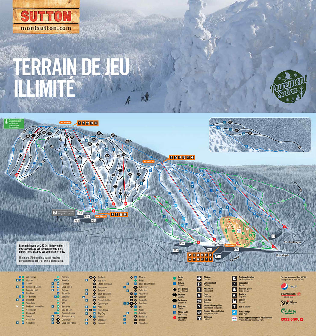 Mont Sutton Piste / Trail Map