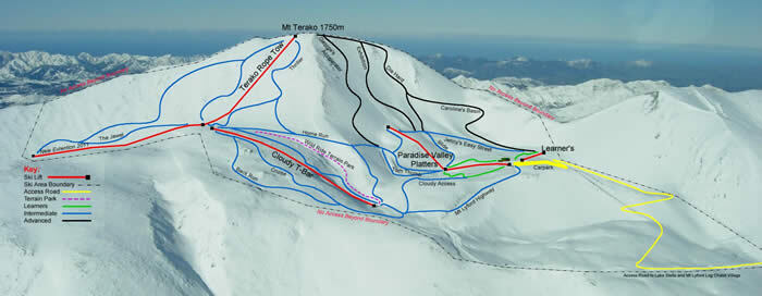 Mount Lyford Piste / Trail Map