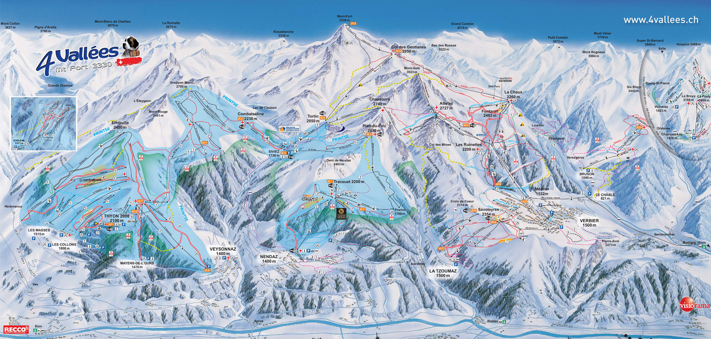Nendaz Piste / Trail Map