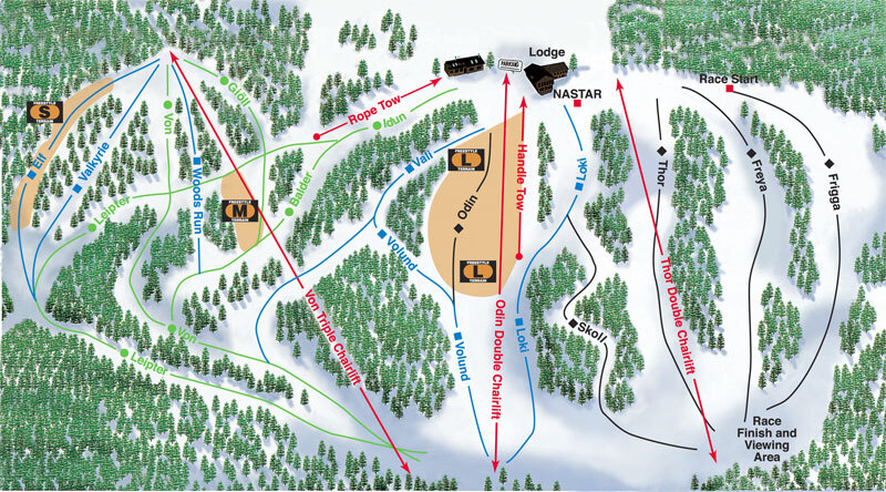Norway Mountain Piste / Trail Map