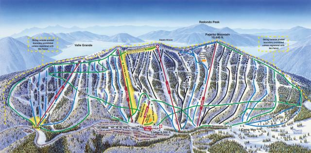 Pajarito Mountain Ski Area Piste / Trail Map
