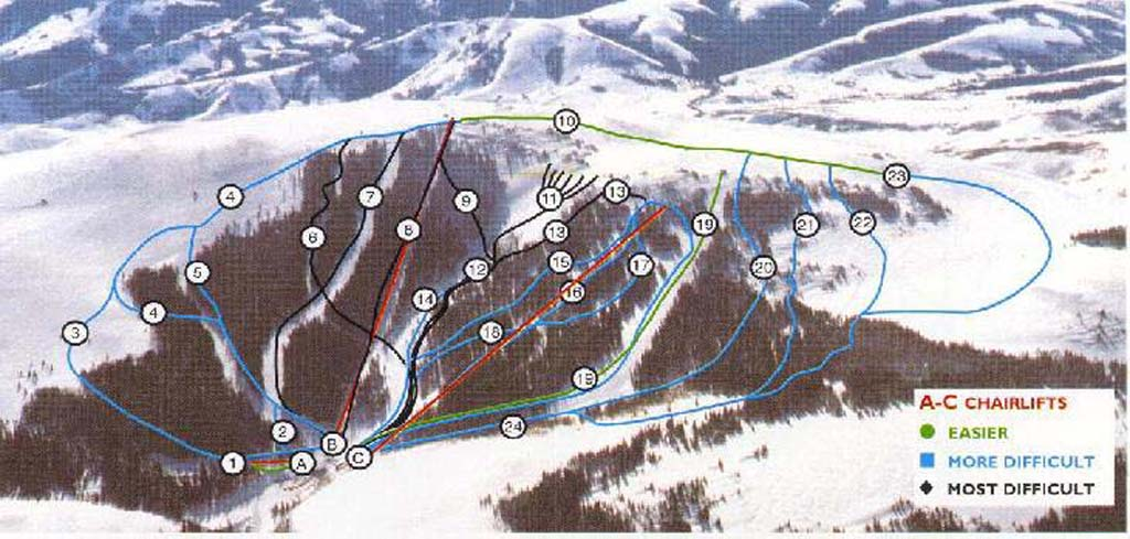 Pomerelle Mountain Resort Piste / Trail Map