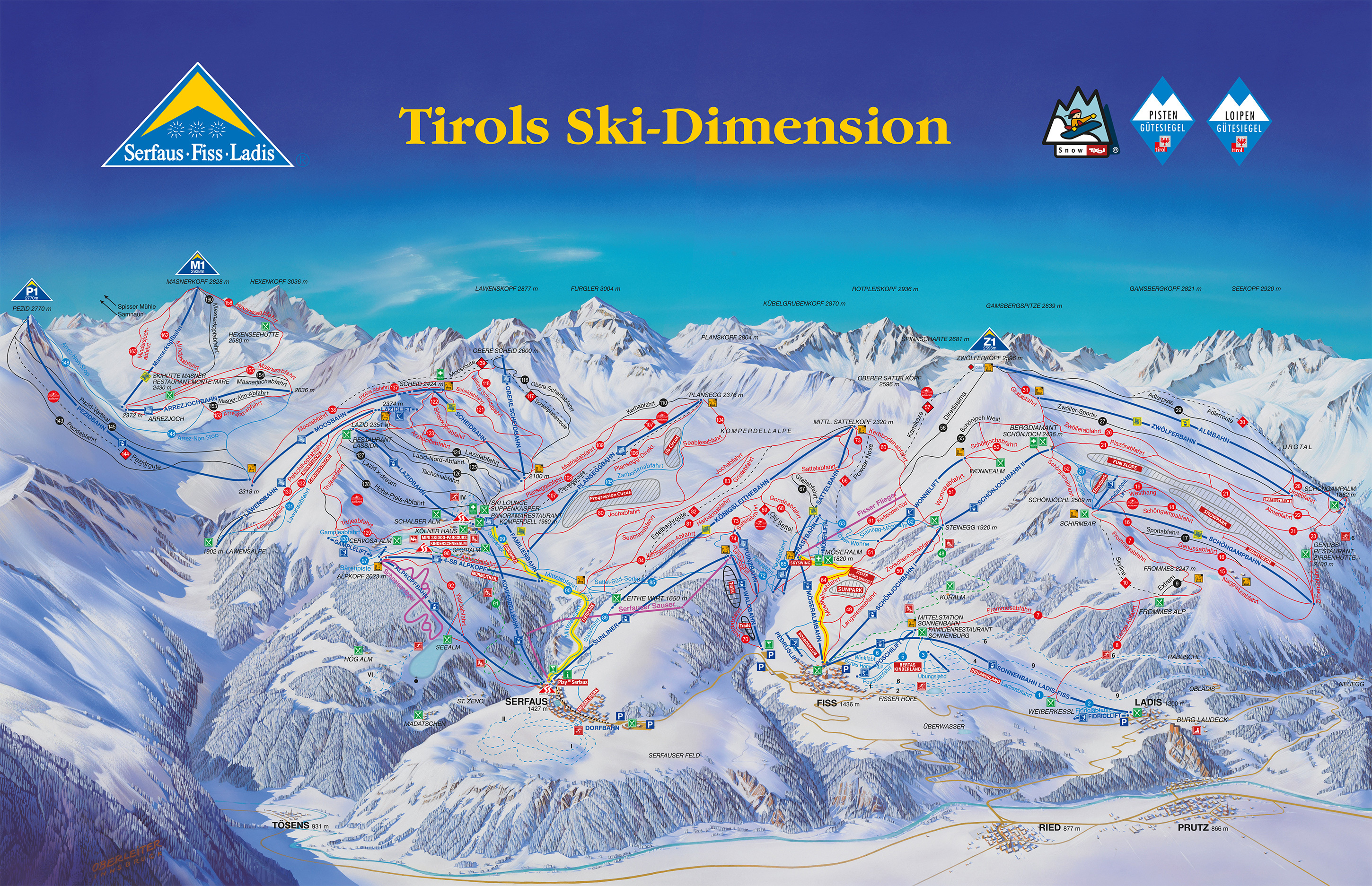 Serfaus Piste / Trail Map