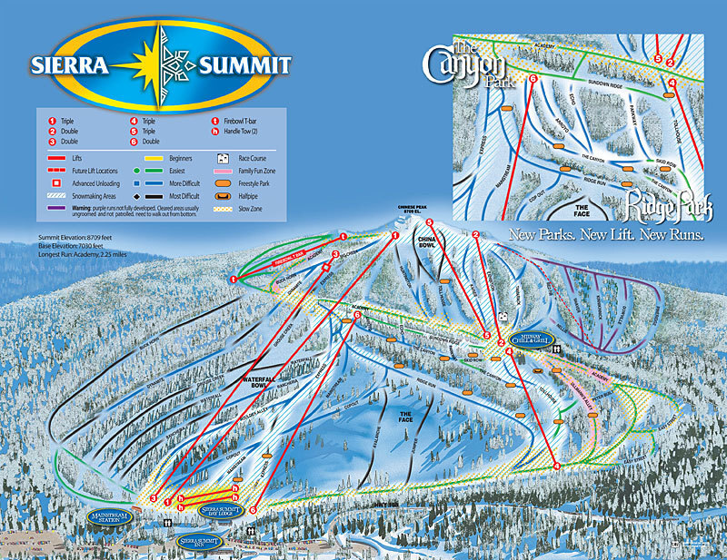 China Peak Mountain Resort Piste / Trail Map