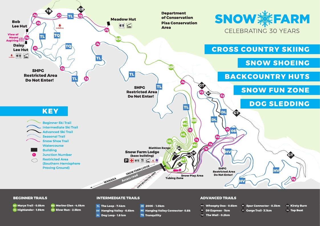 Snow Farm Piste / Trail Map