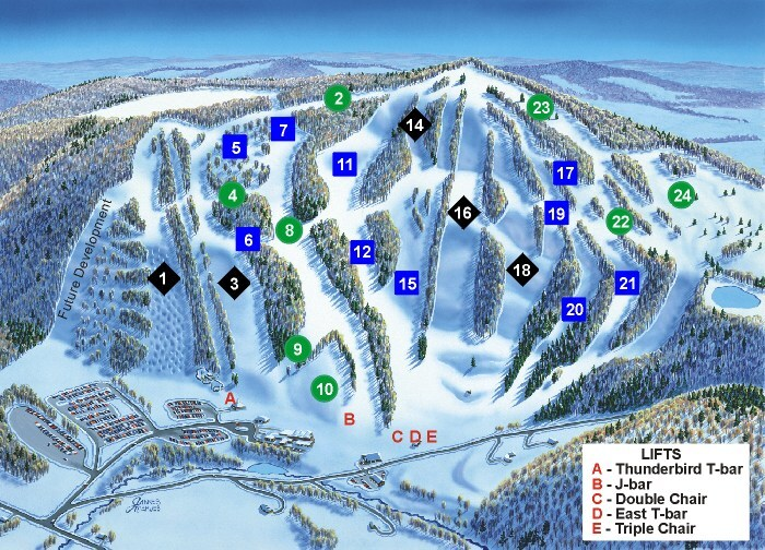 Song Mountain Piste / Trail Map