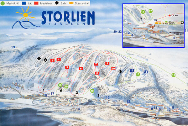 Storlien Piste / Trail Map