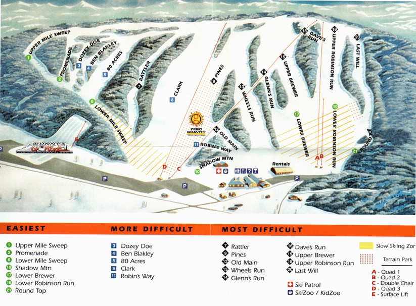 Swain Piste / Trail Map