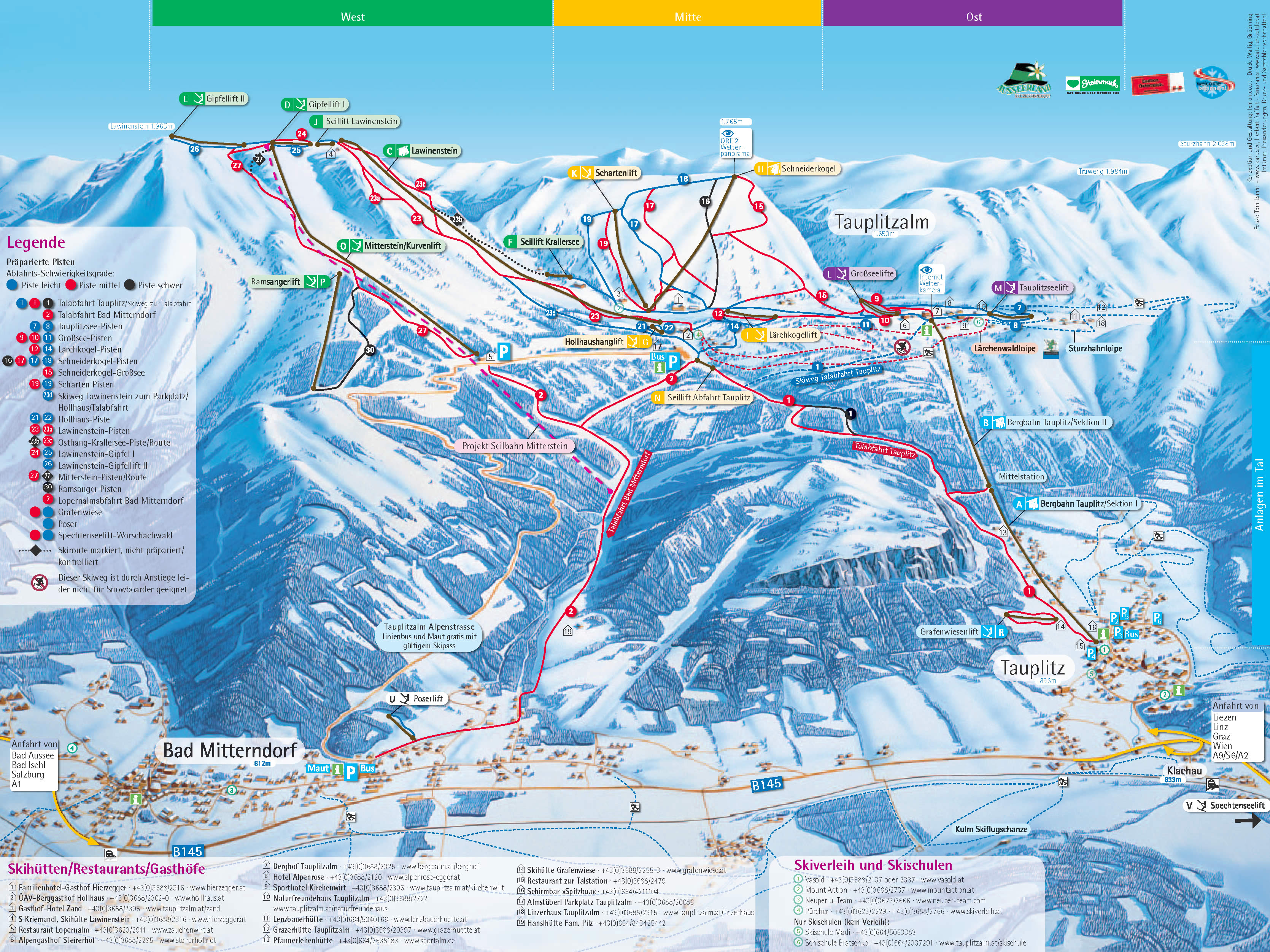 Tauplitz Piste / Trail Map