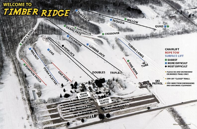 Timber Ridge Piste / Trail Map