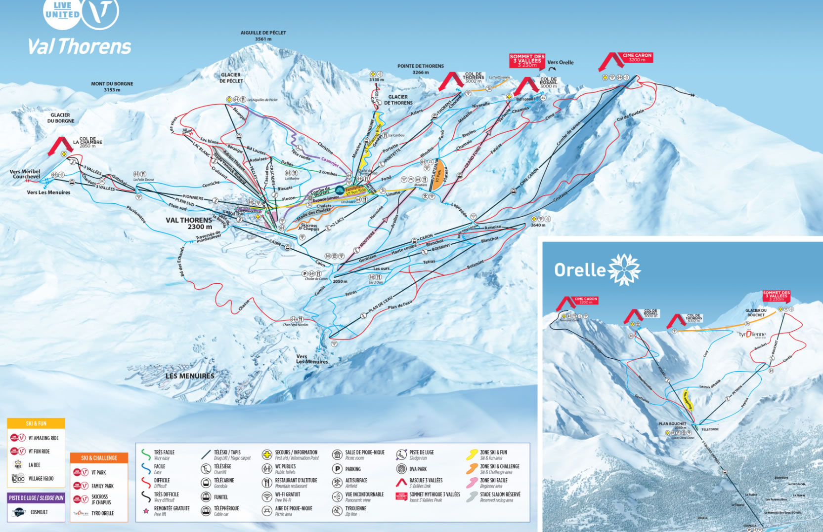 Val Thorens Piste / Trail Map