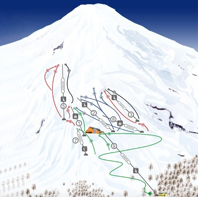 Villarrica-Pucon Piste / Trail Map