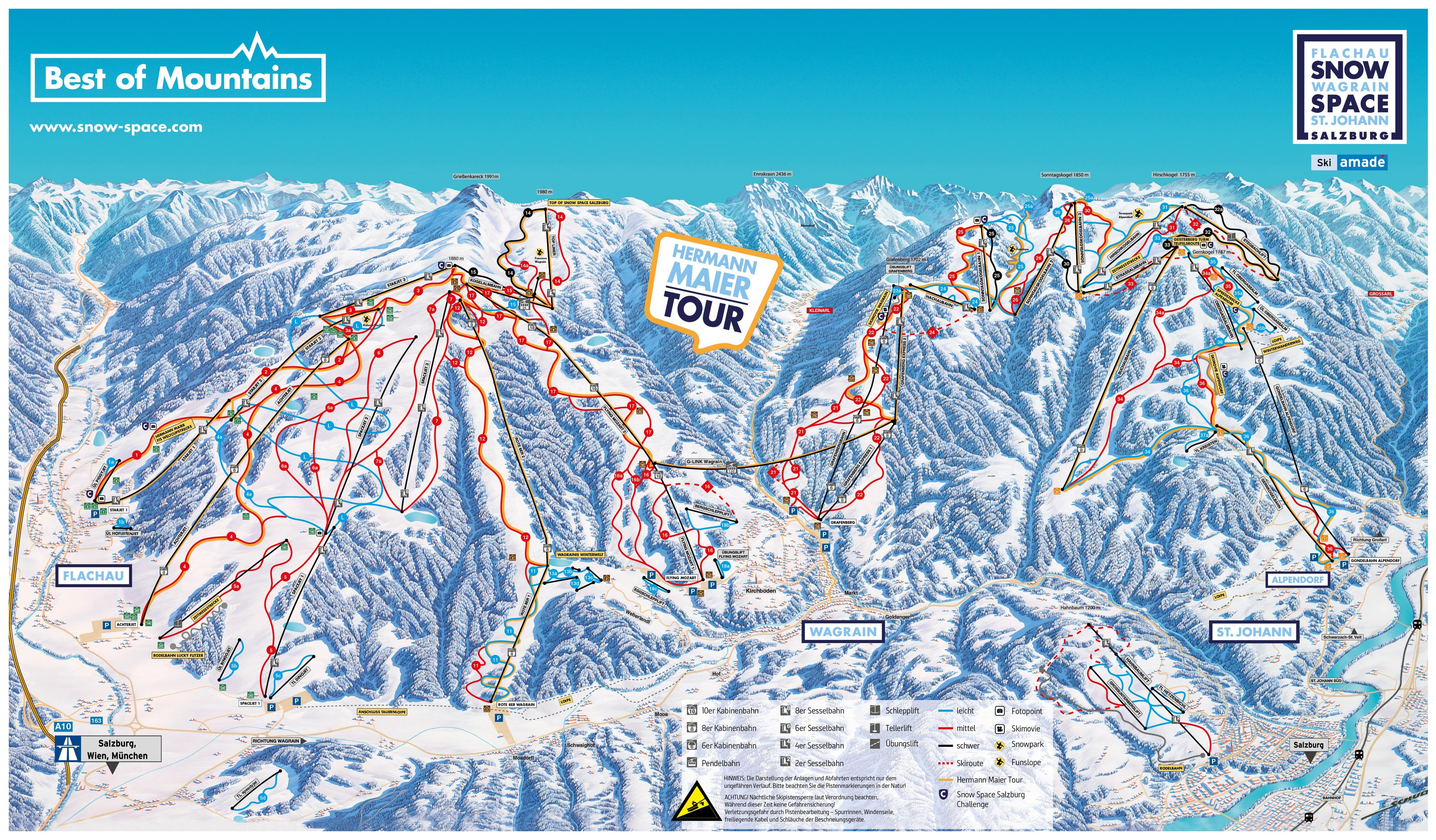 Wagrain Piste / Trail Map