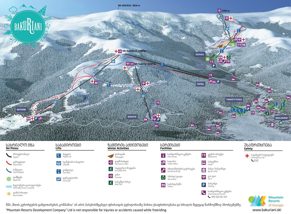 Bakuriani Piste / Trail Map