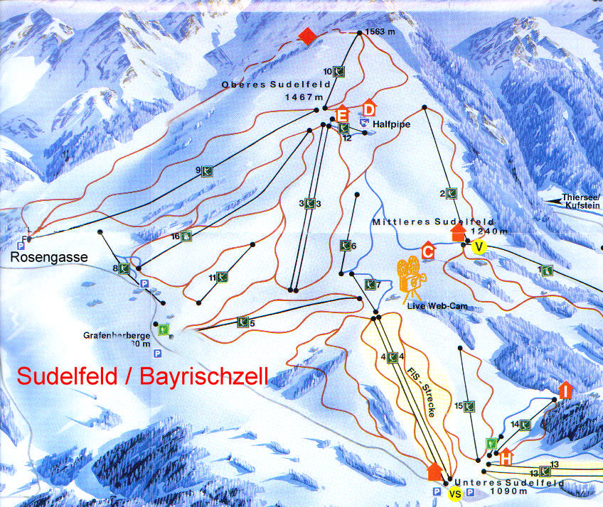 Sudelfeld pistenplan
