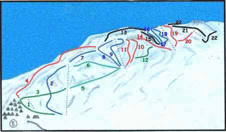 Chapa Verde Piste / Trail Map