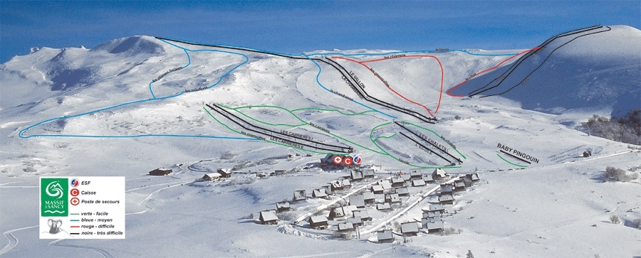 Chastreix-Sancy Piste / Trail Map