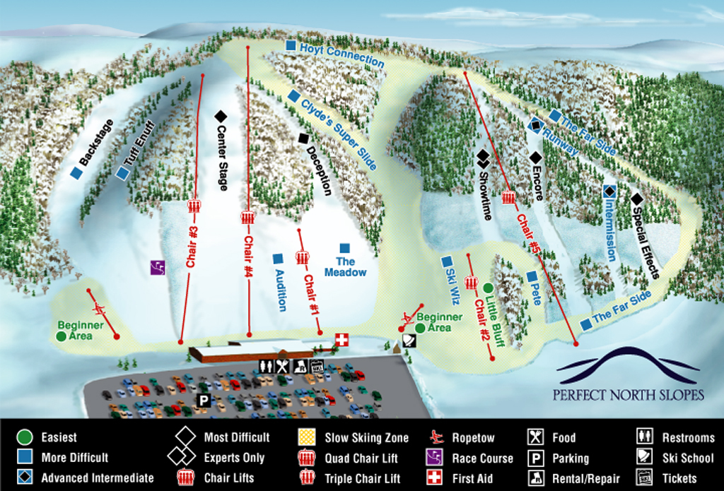 Perfect North Slope Piste / Trail Map