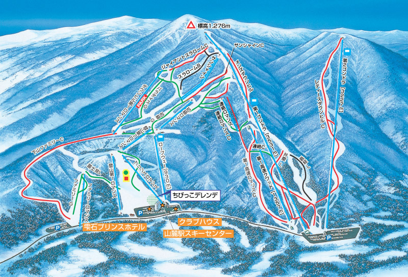 Shizukuishi Piste / Trail Map