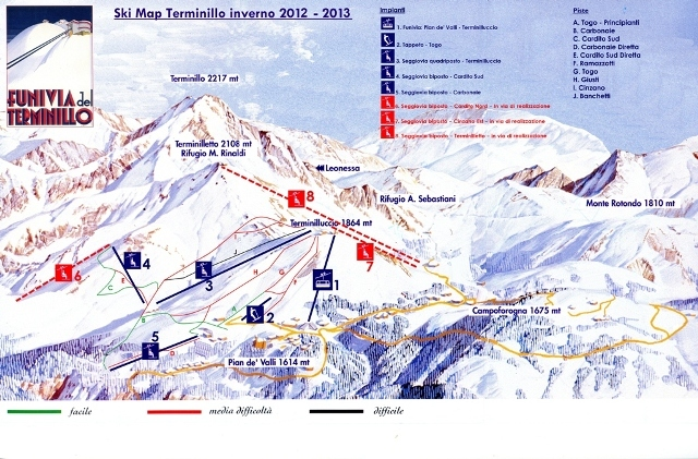 Terminillo Piste / Trail Map