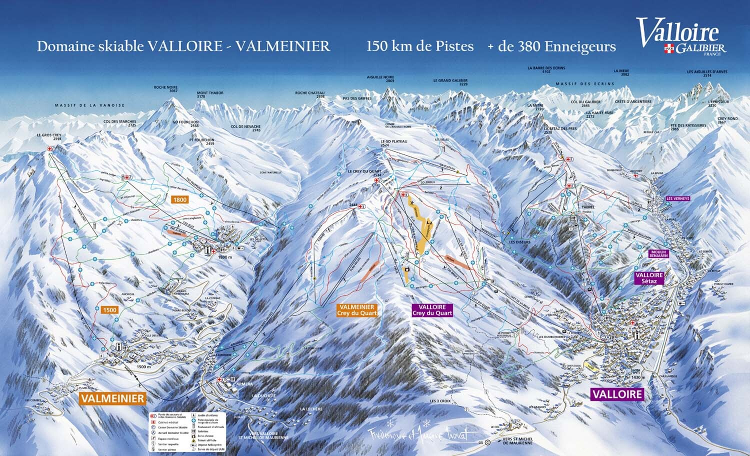 Valloire Piste / Trail Map