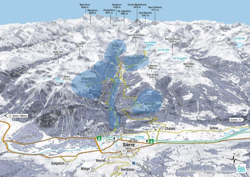 Vercorin Piste / Trail Map