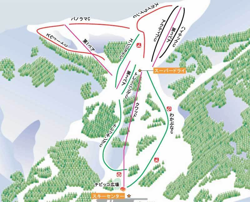 Wakabuna Kogen Piste / Trail Map