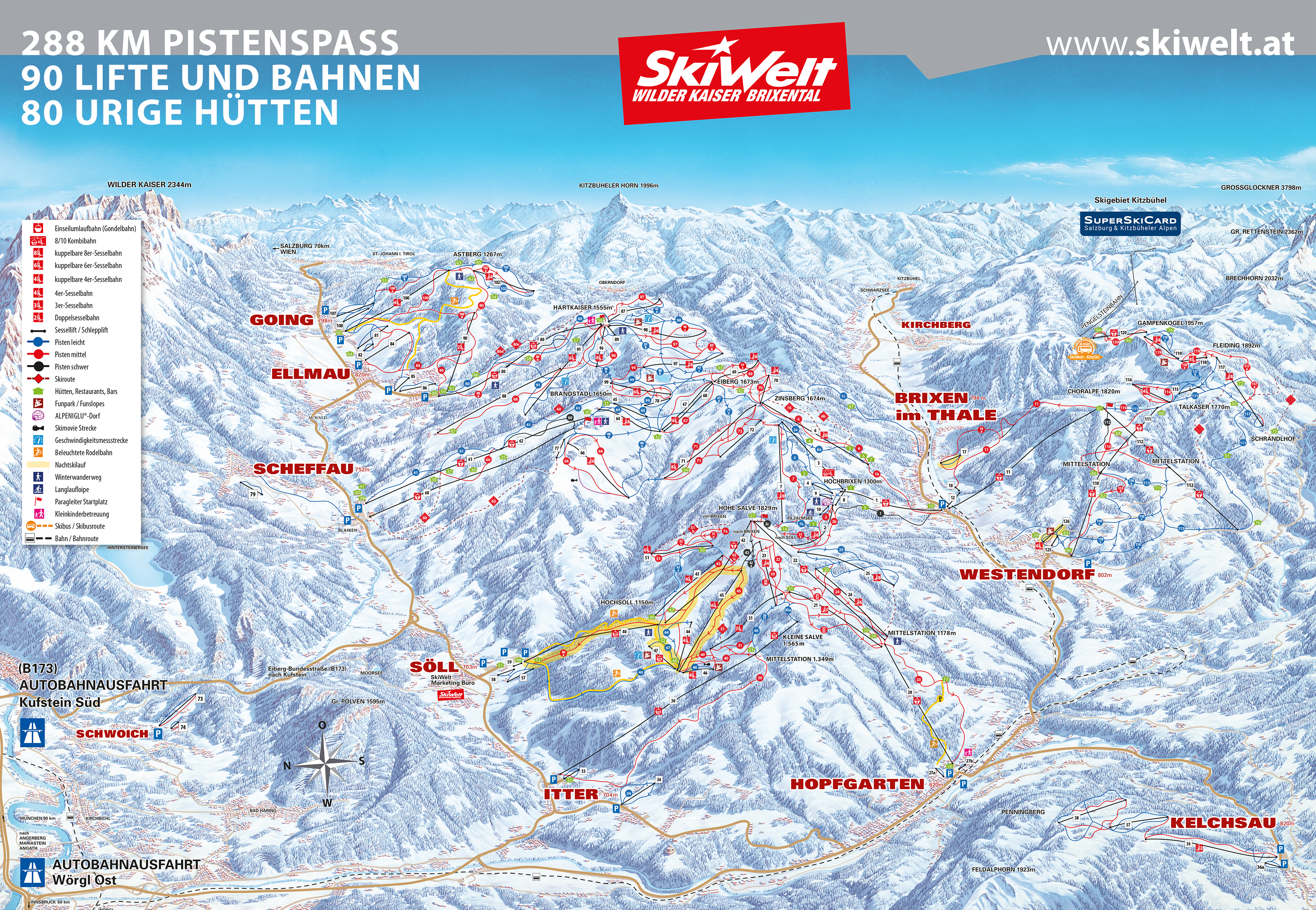 Westendorf Piste / Trail Map
