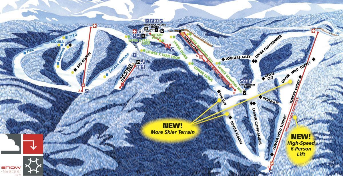Wintergreen Resort Piste / Trail Map